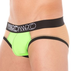 Slip Nude Illusion Vert Fluo MARCO MARCO