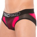NY Basketball Mesh Brief - Red - Black