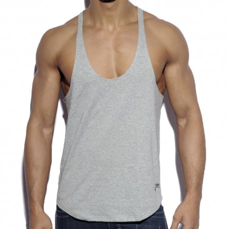 Fitness Plain Tank Top - Grey