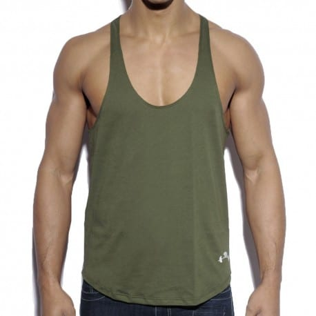 Fitness Plain Tank Top - Khaki