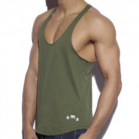 Fitness Plain Tank Top - Khaki