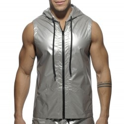 Veste Hoody Metal Argent Addicted