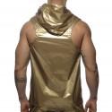 Metal Sleeveless Hoody - Gold