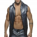 Metal Sleeveless Hoody - Steel