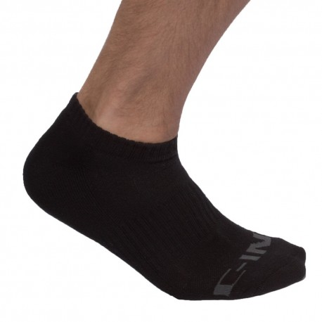 3-Pack Core No Show Bobby Socks - Black