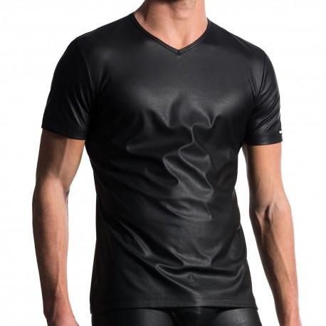 M104 V-Neck T-Shirt - Black