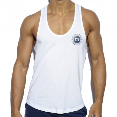 Never Back Down Tank Top - White