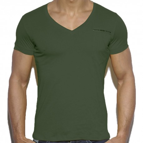 Military Style T-Shirt - Khaki