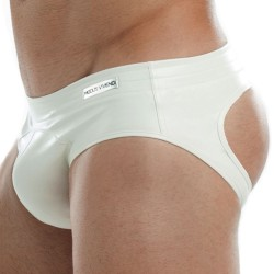 Leather Bottomless Brief - White Modus Vivendi