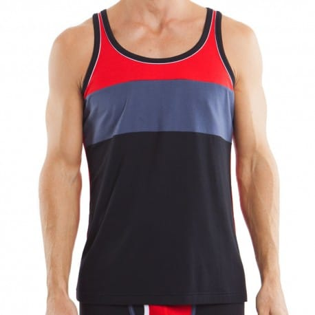 Cotton Luxe Tank Top - Black - Grey - Red