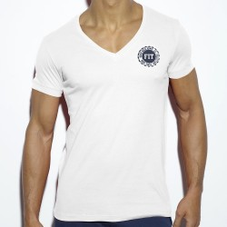 T-Shirt Never Back Down Blanc ES Collection