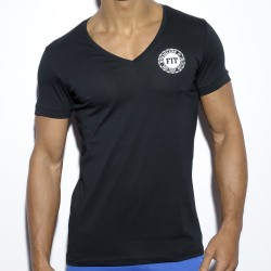 T-Shirt Never Back Down Noir ES Collection
