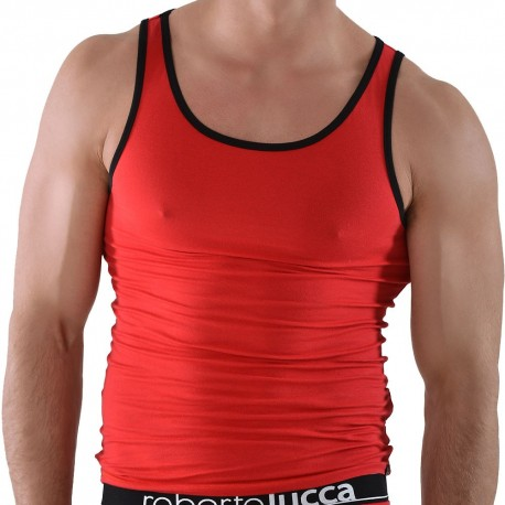 Tank Top - Red - Black