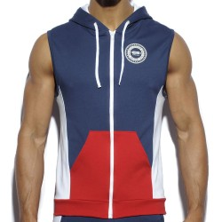 Veste Hoody Badge Marine ES Collection