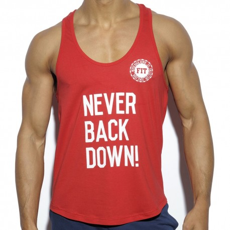 Débardeur Never Back Down Rouge