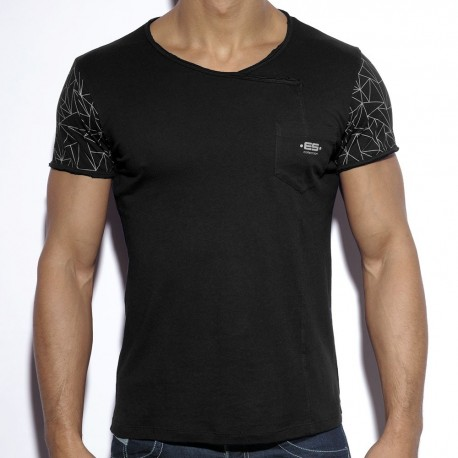 Geometric T-Shirt - Black