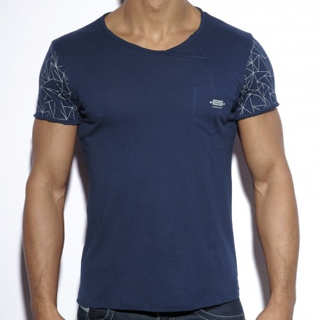 Geometric T-Shirt - Navy