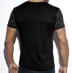 T-Shirt Geometric Noir ES Collection