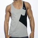 Bias Tank Top - Grey - Black