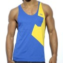Bias Tank Top - Royal - Yellow