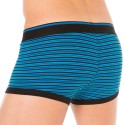 2-Pack Stretch Cotton Boxers - Blue Stripe - Black