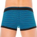 Lot de 2 Boxers Cotton Stretch Rayé Bleu - Noir