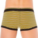 2-Pack Stretch Cotton Boxers - Yellow Stripe - Black