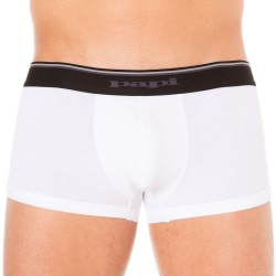 Lot de 2 Boxers Cotton Stretch Blanc - Noir Papi