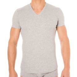 T-Shirt V-Neck Jersey Cotton Stretch Gris DSQUARED2