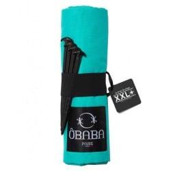 Drap de plage XXL+ Moorea Turquoise ÔBABA