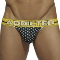 USA Flag Jock Strap - Black