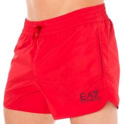 Short de Bain EA7 Sea World Core Rouge Emporio Armani