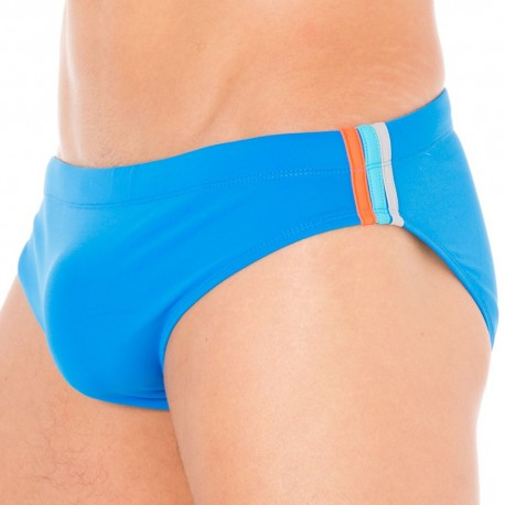 Lycra Rainbow Swim Brief - Ocean Blue