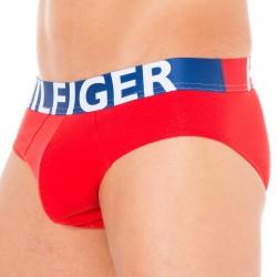 Slip HILFIGER Color Block Rouge Tommy Hilfiger