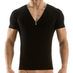 Zipper T-Shirt - Black Modus Vivendi
