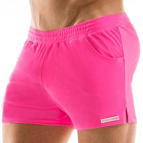 Neon Swim Short - Fuchsia