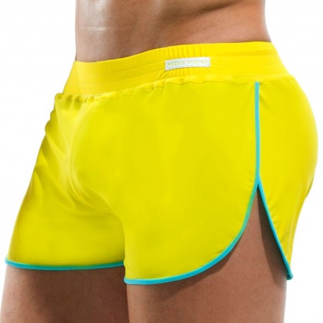 Double Face Swim Short - Yellow - Turquoise