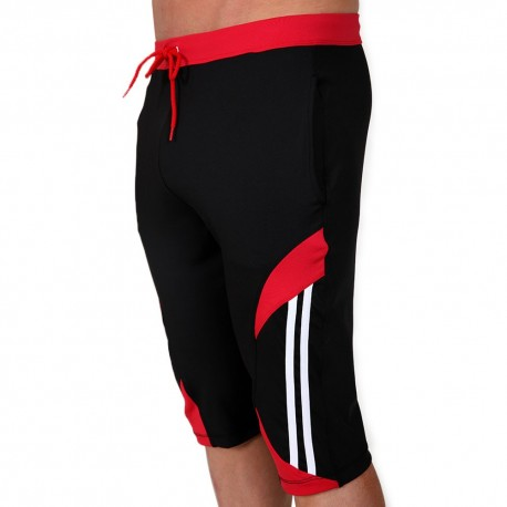 Avenger Knee Pants - Black - Red
