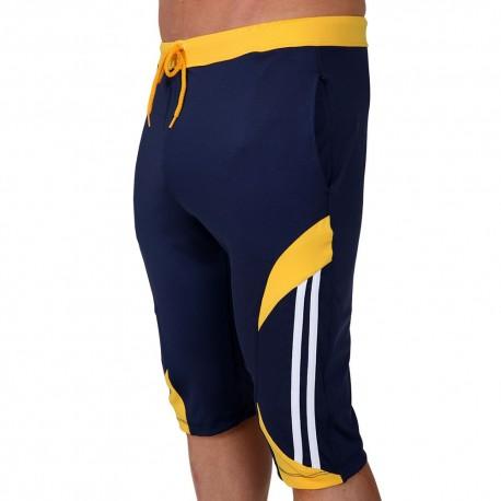 Avenger Knee Pants - Navy - Yellow