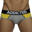 Combi Mesh Brief - Grey - Yellow