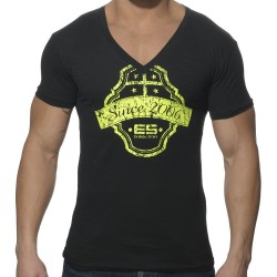 T-Shirt Neon Print Noir ES Collection