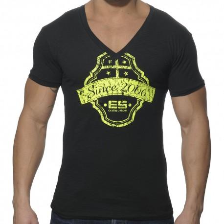 T-Shirt Neon Print Noir