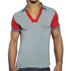 Polo Retro Printed Gris - Rouge ES Collection