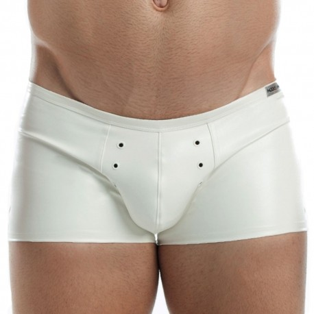 Boxer Leather Blanc