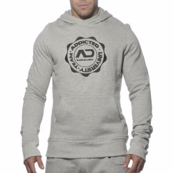 Sweat-Shirt Hoody Stamp Gris Addicted