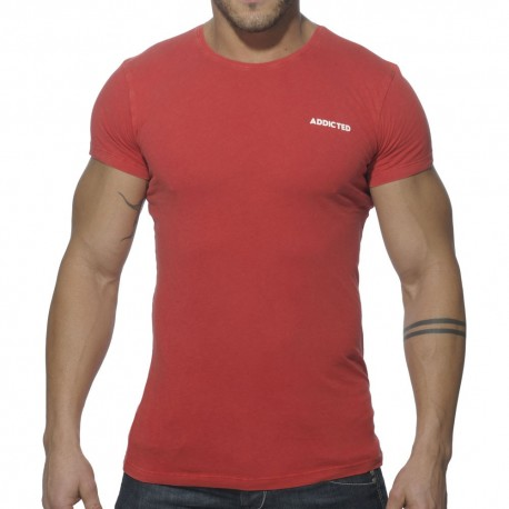 Vintage Round Neck T-Shirt - Red