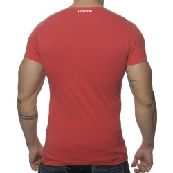 T-Shirt Col Rond Vintage Rouge Addicted