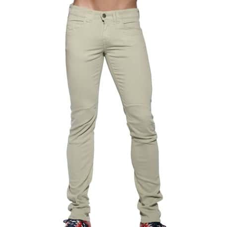 Pocket Jean Pants - Beige
