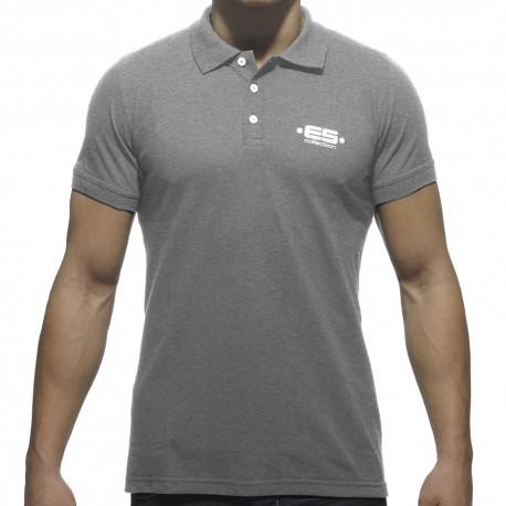 Basic Plain Polo - Grey