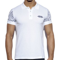 Polo Sleeve Printed Blanc ES Collection